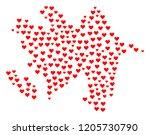 mosaic map of azerbaijan... | Shutterstock .eps vector #1205730790