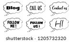 speech bubble social media... | Shutterstock .eps vector #1205732320