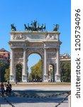 milan  italy   september 28 ... | Shutterstock . vector #1205734096