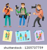 modern photographers with... | Shutterstock .eps vector #1205737759