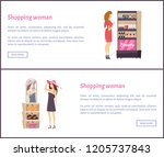 beauty cosmetics stand with...   Shutterstock .eps vector #1205737843