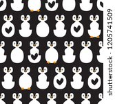 cute seamless pattern with... | Shutterstock .eps vector #1205741509