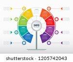 business presentation or... | Shutterstock .eps vector #1205742043