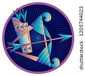 sagittarius zodiac sign ... | Shutterstock .eps vector #1205744023