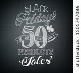 typographic black friday... | Shutterstock .eps vector #1205747086