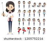 it is a character set of a... | Shutterstock .eps vector #1205752216