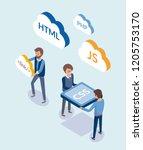 web development  people with...   Shutterstock .eps vector #1205753170
