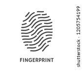 fingerprint verification poster ... | Shutterstock .eps vector #1205754199