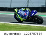 valentino rossi of italy and... | Shutterstock . vector #1205757589