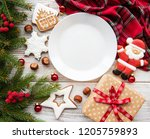 Empty Plate With Christmas...