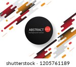 covers with flat geometric... | Shutterstock .eps vector #1205761189