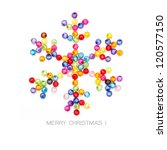 christmas snowflake decorate by ... | Shutterstock . vector #120577150