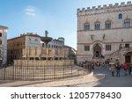 italy  perugia   20 october... | Shutterstock . vector #1205778430