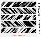 grungy vector set | Shutterstock .eps vector #1205780419