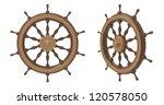 3d render of ship wheel on a...   Shutterstock . vector #120578050