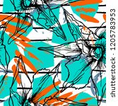tropical  stripe  animal motif. ...   Shutterstock .eps vector #1205783953