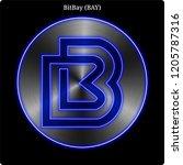 metal bitbay  bay ... | Shutterstock .eps vector #1205787316
