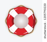 life buoy isolated on white... | Shutterstock .eps vector #1205793220