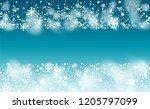 vector snow background. winter... | Shutterstock .eps vector #1205797099