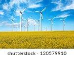 alternative energy  windturbines | Shutterstock . vector #120579910