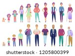 people male and female aging... | Shutterstock .eps vector #1205800399