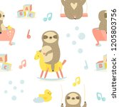 Seamless Baby Pattern With Cut...
