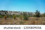 overburden from open cut coal... | Shutterstock . vector #1205809036