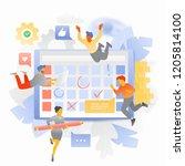 vector illustration of a big... | Shutterstock .eps vector #1205814100