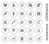 restaurant icon set. collection ...   Shutterstock .eps vector #1205816416