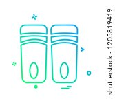 bottles icon design vector  | Shutterstock .eps vector #1205819419