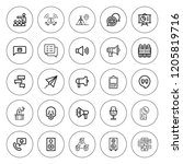 speech icon set. collection of...   Shutterstock .eps vector #1205819716
