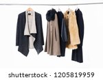 different clothes  fur coat for ...   Shutterstock . vector #1205819959