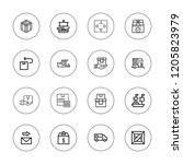 delivering icon set. collection ... | Shutterstock .eps vector #1205823979