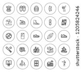 recreation icon set. collection ... | Shutterstock .eps vector #1205824246