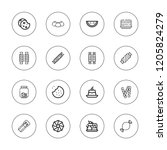 biscuit icon set. collection of ... | Shutterstock .eps vector #1205824279