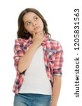 kid thoughtful face make... | Shutterstock . vector #1205831563