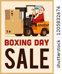 boxing day sale santa claus... | Shutterstock .eps vector #1205832676