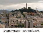 on telegraph hill is pioneer... | Shutterstock . vector #1205837326