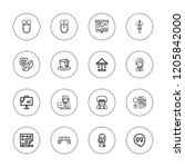 man icon set. collection of 16...   Shutterstock .eps vector #1205842000