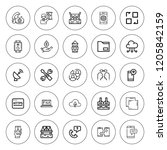 connection icon set. collection ...   Shutterstock .eps vector #1205842159