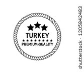 turkey premium quality badge....   Shutterstock .eps vector #1205842483