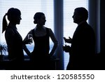 Silhouettes Of Business...