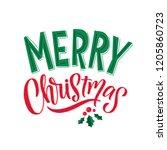 merry christmas vector text... | Shutterstock .eps vector #1205860723
