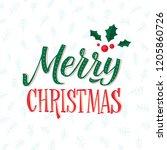merry christmas text design.... | Shutterstock .eps vector #1205860726
