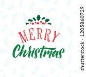 merry christmas text design.... | Shutterstock .eps vector #1205860729