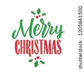 merry christmas vector text... | Shutterstock .eps vector #1205861500