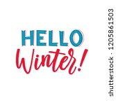 hello winter vector text... | Shutterstock .eps vector #1205861503