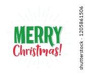 merry christmas vector text... | Shutterstock .eps vector #1205861506