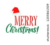 merry christmas vector text...   Shutterstock .eps vector #1205861509
