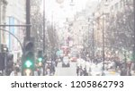 abstract blurry bokeh town in... | Shutterstock . vector #1205862793